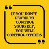 Motywacyjna wycena Jeżeli ty przywdziewasz ` t uczy się ono kontrolować, ty w royalty ilustracja