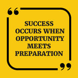 Motywacyjna wycena Sukces zdarza się ilustracja wektor