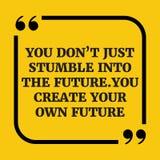 Motywacyjna wycena Ty przywdziewasz ` t właśnie potknięcie w przyszłość Ty c ilustracji