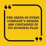 Motywacyjna wycena Ziarna każdy firmy ` s upadek są conta ilustracji