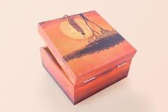 Motywu etniczny pudełko Fotografia Stock