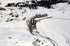 MOU de esqui suíço dos esportes de inverno dos cumes de Suíça de Kleine Scheidegg Foto de Stock