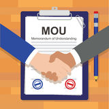 Mou memorandum of understanding legal document agreement stamp Stock Photos