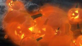 Mouche à potirons du feu follet de Halloween illustration stock