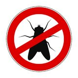 Mouche d'interdiction de signe anti - vecteur illustration stock
