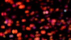 Mouche de bokeh de lumières de résumé Milieux noirs clips vidéos