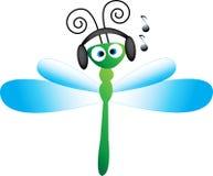 Mouche de dragon de musique Image libre de droits