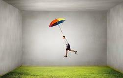 Mouche de femme sur le parapluie Photo libre de droits