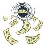 Mouche de gaspillage d'argent illustration de vecteur