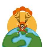 Mouche de parachute illustration stock