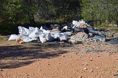 Mouche inclinant des déchets vidés Photographie stock