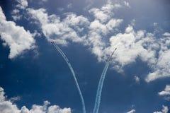 Mouche loin à la stratosphère Image stock