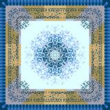 Mouchoir ou serviette avec un ornement Le thème de l'hiver Photographie stock