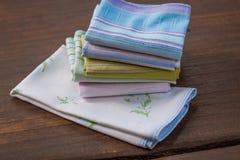Mouchoirs réutilisables de coton de 100 pour cent Image libre de droits