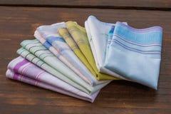 Mouchoirs réutilisables de coton de 100 pour cent Photo stock