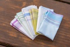 Mouchoirs réutilisables de coton de 100 pour cent Photographie stock