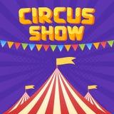 Moucupen av cirkusaffischen Arkivfoto