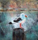 Mouette au dock Image stock