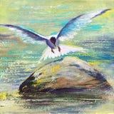 mouette de vol illustration de vecteur