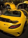 Mouette puissante d'AMG Mercedes par derrière Photographie stock libre de droits
