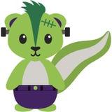 Mouffette dans le costume de Halloween illustration de vecteur