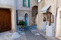 Mougins村庄,法国 库存图片