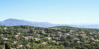 Mougins villas south of france Royalty Free Stock Photo