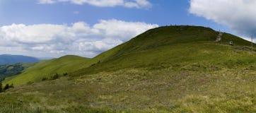 mouhtain zielona panorama Obraz Royalty Free