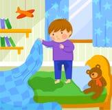 Mouillage de lit Image libre de droits