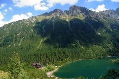 湖mouintains 库存图片