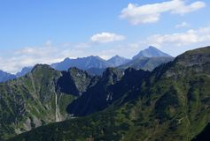 Mouintains ridge in Tatras Royalty Free Stock Images