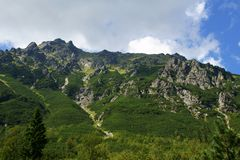 Mouintains ridge in Tatras Royalty Free Stock Image