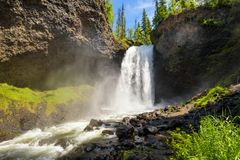 Moul Falls in Wells Gray Provincial Park in Canada. Moul Falls on Grouse Creek in Wells Gray Provincial Park in Canada Royalty Free Stock Photo