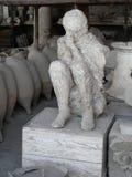 Moulage de plâtre d'un femme tué à Pompeii Photo libre de droits