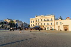 Moulay哈桑广场在索维拉 摩洛哥 库存图片
