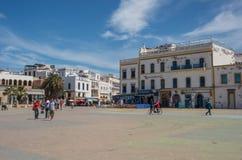 Moulay El Hassan Square In The Medina gammal stad Royaltyfri Bild