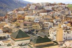 Moulay Idriss是最圣洁的镇在摩洛哥。 免版税库存图片