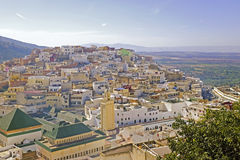 Moulay Idriss is de heiligste stad in Marokko. Royalty-vrije Stock Foto