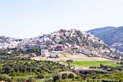 Moulay Idriss jest świętym miasteczkiem w Maroko Ja był tutaj to obraz royalty free