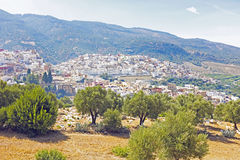 Moulay Idriss is the most holy town in Morocco. Stock Photography