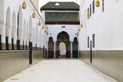Moulay Idriss Zerhoun mausoleum near Meknes, Morocco Stock Image
