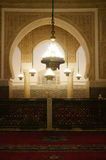 Moulay Ismail Mausoleum interior at Meknes Stock Images