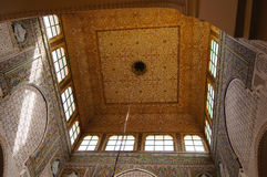 Moulay Ismail Mausoleum interior at Meknes, Morocco Royalty Free Stock Photography