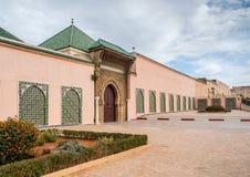 Moulay Ismail mausoleum in Meknes medina. Morocco. Main entrance of Moulay Ismail mausoleum in Mequinez medina Royalty Free Stock Photos