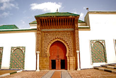 Moulay Ismail Mausoleum, Meknes, Morocco. Meknes, one of the Royal Cities of Morocco is full of ancient islamic treasures Stock Photos
