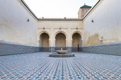 Moulay Ismail Mausoleum at Meknes, Morocco. Moulay Ismail Mausoleum interior at Meknes, Morocco stock photos