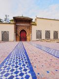 Moulay Ismail Mausoleum in Meknes, Morocco Stock Image