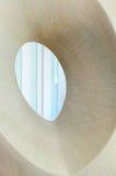 Moulded Ceramic Vase. Ceramic vase moulded with central open space Stock Image