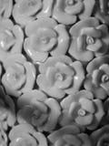MOULDED ROSE PETALS SHAPE PORCELAIN. PATTERN DESIGN OF MOULDED ROSE PETALS SHAPE PORCELAIN Royalty Free Stock Images