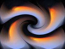 MOULDED SWIRL WITH FIERY COMPONENT. Twisted swirl pattern with grey and fiery colours Stock Photo
